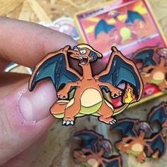 Mr Burns x Charizard Pin Badge with Trading Card & Sticker