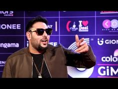 Badshah at the red carpet of the GiMA Awards 2016.