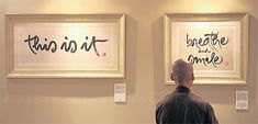 Zen master Thich Nhat Hanh demonstrates his art of meditation through calligraphy-International Exhibition of Calligraphy