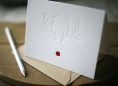 Letterpress Christmas Cards RedNosed holiday cards