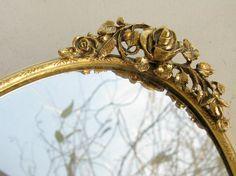 Vintage Vanity Mirror Tray  Ornate Ormolu by VintageAccentsStudio