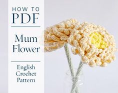 Chrysanthemum Flower DIY PDF English Crochet Pattern US