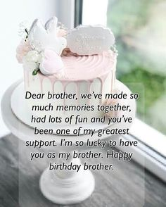 A brother is one with whom we grow up. Give him warm birthday wishes to admire him. Send Best Birthday Wishes For Brother to show your gratitude for him. Unique Birthday Wishes, Happy Birthday Wishes Sister, Happy Birthday Flower, Happy Birthday Dear, Happy Birthday Quotes, Birthday Messages, Birthday Greetings For Brother, Birthday Message For Brother, Nephew Birthday Quotes