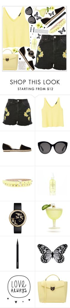 """""""style"""" by lena-volodivchyk ❤ liked on Polyvore featuring Topshop, MANGO, Michael Kors, Gucci, Valentino, Chanel, Sur La Table, MAC Cosmetics, Visionnaire and POMIKAKI"""