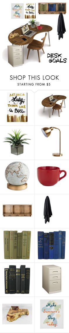 """""""Office ✒️📁"""" by daniellemtartaglione ❤ liked on Polyvore featuring interior, interiors, interior design, home, home decor, interior decorating, Oliver Gal Artist Co., Copeland Furniture, Bellerby & Co and Pier 1 Imports"""