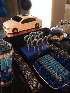 My husbands BMW Birthday Party Theme.