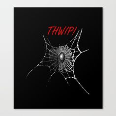 thwip! #CANVAS #PRINT SMALL $96.00 ©JoeChanPhotoStudio  #thwip! #spiderman #spider #spiderweb #spiders #Furnishings #decoration #artwork #home #art #party #pattern #popart #colors #accessories #modern #fashion #NYC #USA #UK #contemporaryart society6.com/...