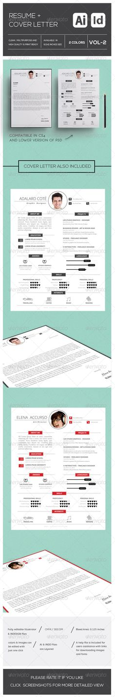 Resume CV And Cover Letter Template Cover letter template - simple resume cover letter