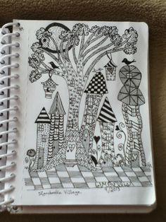 My zendoodle village (JMGEllis) http://www.pinterest.com/nanniejoyjmge/my-zendoodle-art-jmgellis/