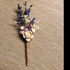 Ella added a photo of their purchase Wrist Corsage Wedding, Bridesmaid Corsage, Flower Headpiece Wedding, Blush Wedding Flowers, Blue Bridesmaids, Lavender Boutonniere, Groomsmen Boutonniere, Jennifer Jones, Flower Hair Pieces