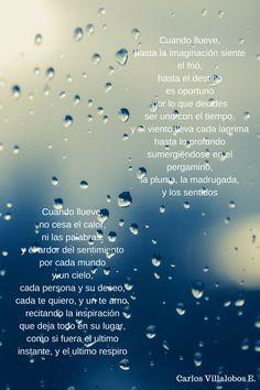Cuando llueve .#poesías  When it rains  #Poetry