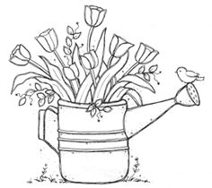 Image result for watering can flowers