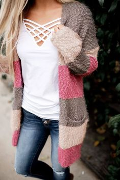 GOSOPIN Casual Loose Open Front Dolman Batwing Knit Cardigan Sweater Large Brick