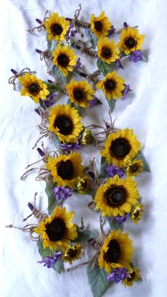 Sunflower wedding Country wedding by ChurchMouseCreations on Etsy