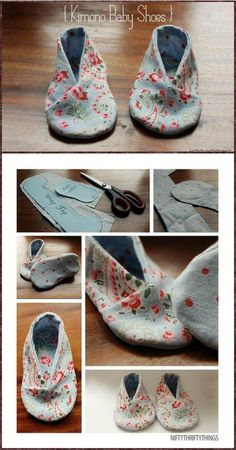 We are going to show you some amazing ideas to craft the DIY baby shoes of your own. So check out these DIY baby shoes free patterns and tutorials to Doll Shoe Patterns, Baby Shoes Pattern, Baby Clothes Patterns, Baby Patterns, Clothing Patterns, Handmade Baby, Diy Baby, Shoes Handmade, Baby Shoes Tutorial