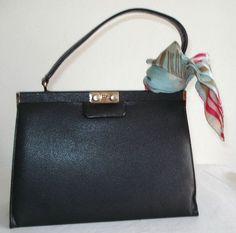 Vintage 60s BIRKS Art Deco Handbag Retro Kelly by MushkaVintage3
