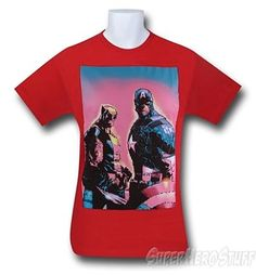 Captain America and  Wolverine T-Shirt - Red Color