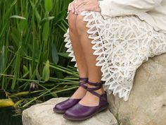 Purple shoes - one pair for work and weekend #fashiontakesaction