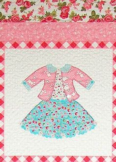 Click for full size image Dolly Dress Up, Appliqué Quilts, Fashion Show, Plus Fashion, Little Dresses, Applique, Quilting, Kids Rugs, Patterns