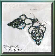 Seed Bead Chandelier Earrings / Lace by WrappedToPerfection, $17.00