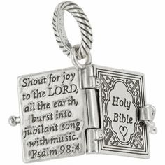 Brighton charm bracelet Bible charm- the Lords Prayer is on the inside!!
