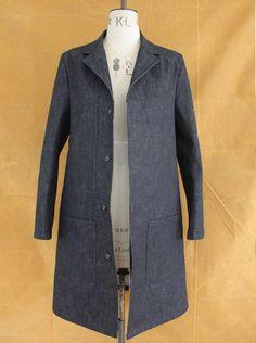 Shop Coat British Workwear Natural Indigo Dyed Japanese Selvedge Denim 14.5oz by Wayside Flower