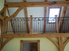 Iron and oak loft railings . Baldwinville , Ma.
