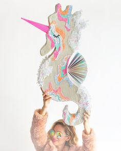 Seahorse piñata! On the blog today! www.ohhappyday.com