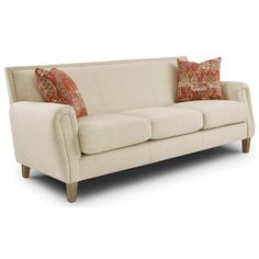 Best Home, Madelyn tight back sofa w/club arms #521 82.5x36.5x34h order at Darvin