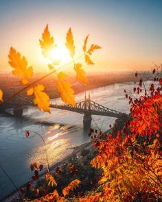 Autumn sunrise shooting at the best sunrise location in Budapest European City Breaks, Wonderful Places, Budapest, Sunrise, Travel Photography, Autumn, Explore, World, Outdoor