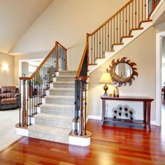 We specialize in: Custom stairs, Stair rails, Railing installation, Stair installation, Stair platforms, Curved stairs, Winder stairs. Handrails, balustrairs, and newel posts are terms commonly used when talking about railings. When designing your rails, you must consider the laws and provisions, because there are many safety concerns when installing stair railings. Cable Railing, Stair Railing, Railings, Winder Stairs, Force Movie, Stair Renovation, Building Contractors, Newel Posts