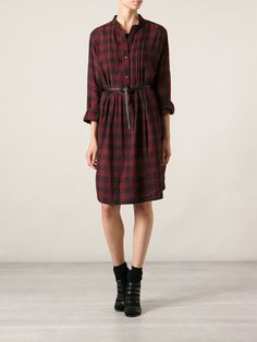 Isabel Marant Étoile Checked Shirt Dress - Petra Teufel - Farfetch.com