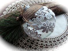 Christmas Bauble Rustic  Christmas Ornament  Ball  by Mydaisy2000