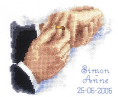 With This Ring Wedding Sampler - cross-stitch kit by Vervaco