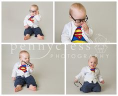Superman / superhero 1st Birthday Cake Smash bu Pennycress Photography. The pre smash images...