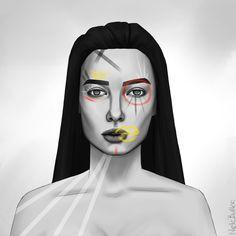 Artist: @nelebalke Halloween Face Makeup, Make Up, Illustrations, Artist, Illustration, Artists, Makeup, Beauty Makeup, Bronzer Makeup