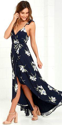 654a8bc430175  lovelulus High Low Floral Dress