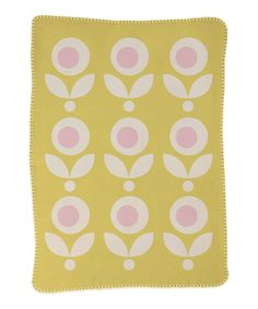 Look what I found on #zulily! Lolli Living 30'' x 40'' Yellow Floral Stroller Blanket by Lolli Living #zulilyfinds