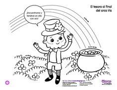 Coloring Activity: Día de San Patricio: Saint Patricks Day