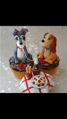 Lady and the tramp cupcakes !