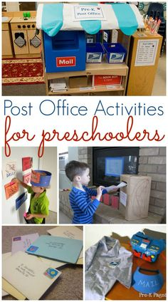 Post Office Activities for Preschool. Learn about the post office and mail at home or in your preschool classroom with these fun activities. (september activities for preschool) Dramatic Play Themes, Dramatic Play Area, Dramatic Play Centers, Drama Activities, Classroom Activities, Drama Games, Enrichment Activities, Indoor Activities, Summer Activities