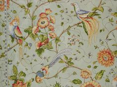 Cockatoo bird of paradise tropical fabric Tropical Fabric, Tropical Birds, Bird Fabric, Kitchen Fabric, Cockatoo, View Image, Damask, Paradise, Lily