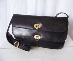 Vintage Pelletterie Salucci Purse   Black by TheClassicButterfly