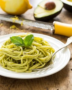 15 Minute Creamy Avocado Pasta. Heart-healthy avocados are processed with garlic, a touch of olive oil, fresh basil, lemon juice, and sea salt to create one amazing creamy pasta sauce you won't soon forget.