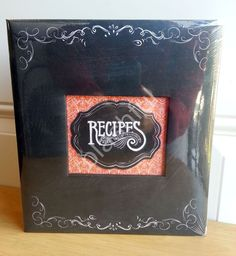 CR Gibson Red Black SAVORY EATS Chalkboard Pocket Page Recipe Book Organizer  #CRGibson