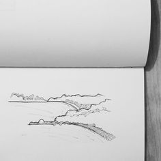 Imagined coastline sketch