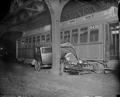 Autowracks aus der goldenen Zeit des Automobils