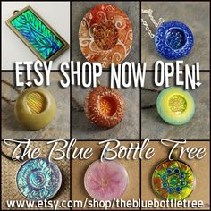 The Blue Bottle Tree how has an Etsy Shop! http://www.etsy.com/shop/TheBlueBottleTree