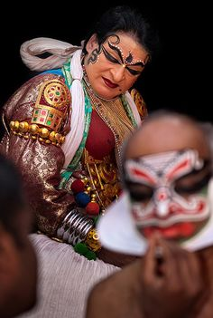 Kathakali . Kannur, Kerala, the dancer and his muse