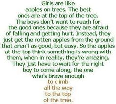 girls are like trees